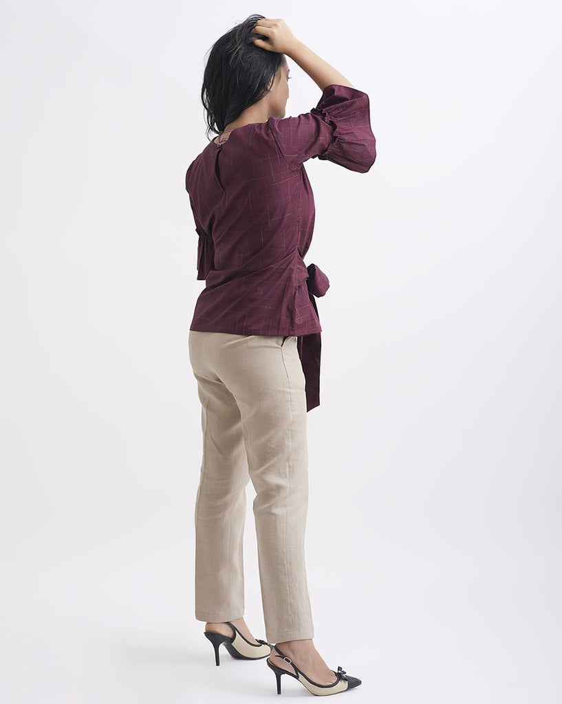 COFFEE AND CONFIDENCE Khaki Tapered pants