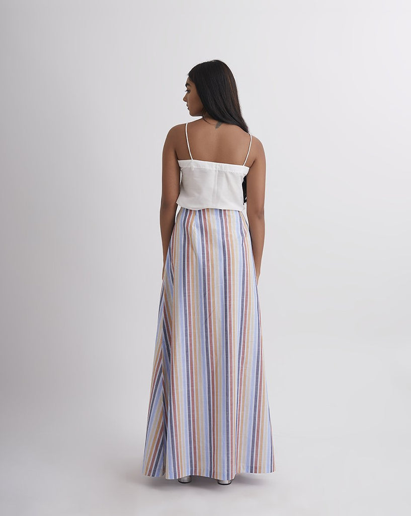 CANDILICIOUS Stripe Wrap Skirt