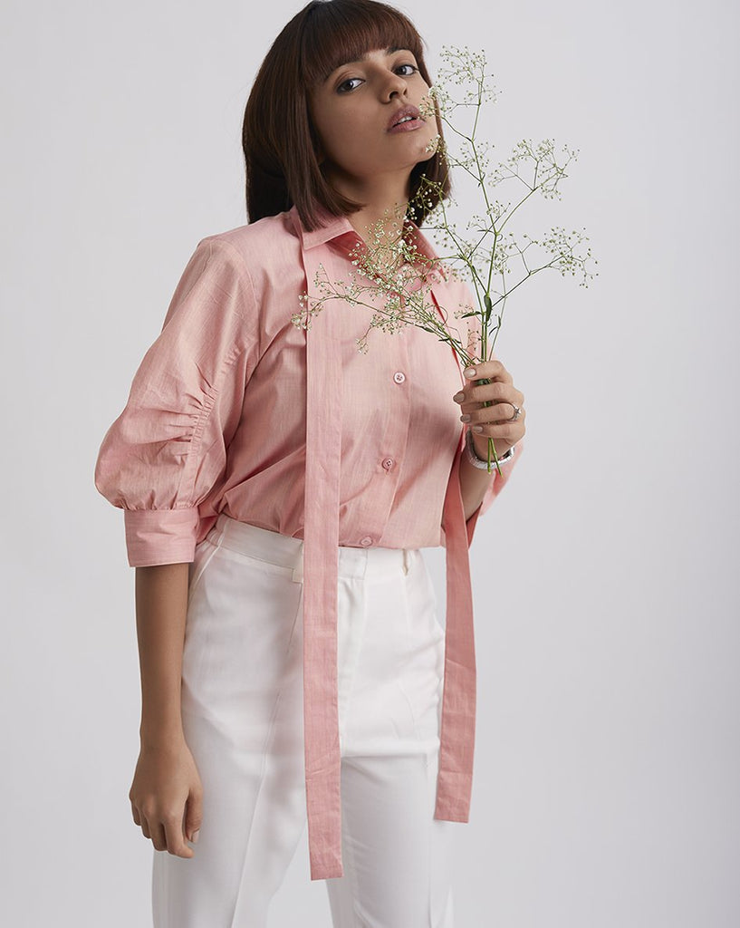 IN BLOOM Gathered Sleeve Top