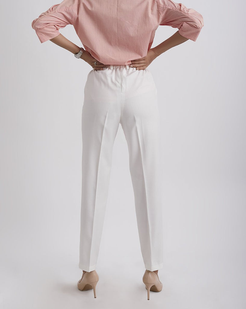 MORNING RAYS White tapered pants