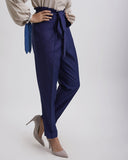 DIAL IT UP Navy Tie-up Pants