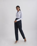 GIRL BOSS Blue Black Stripe Pants