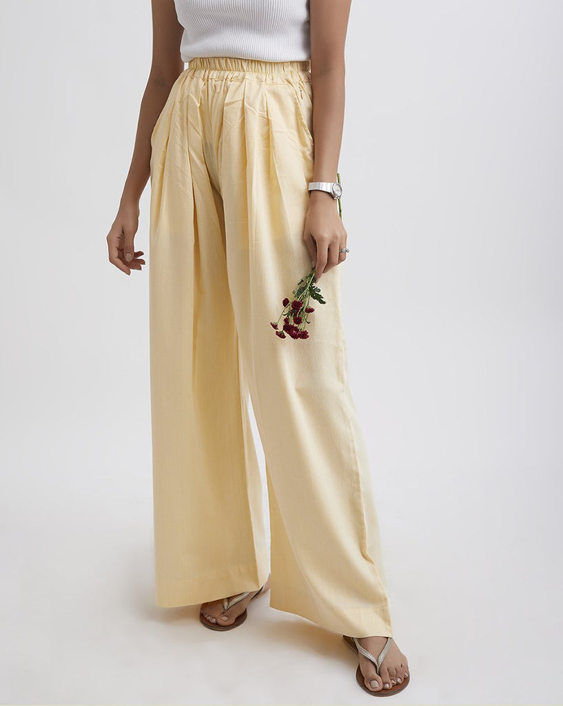 DAY LILLY Lemon Yellow Elasticated Pants