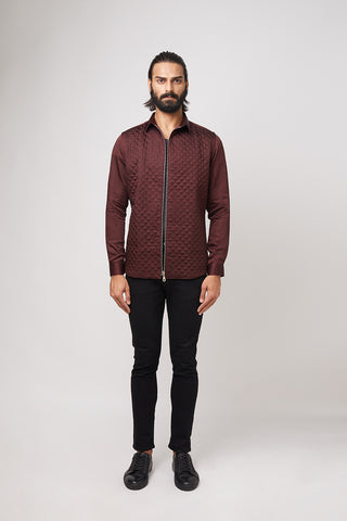 Leather Embroidered Shirt