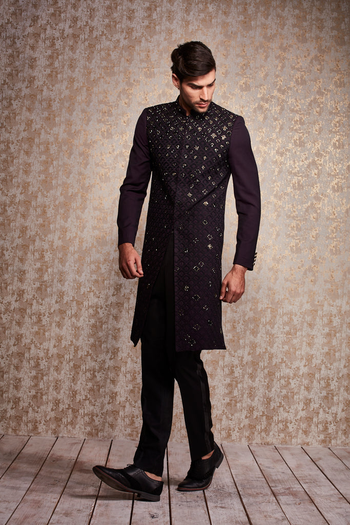 PATTERNED SHERWANI