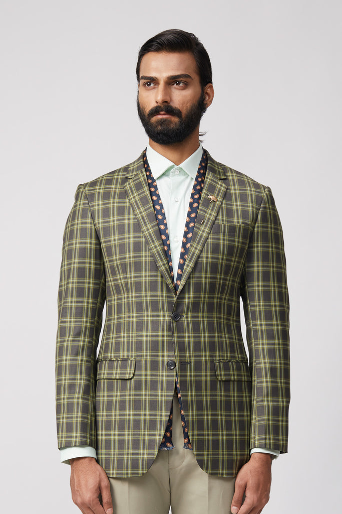 Yugen Sage Plaid Jacket