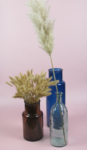 100% recycled glass colourful vases
