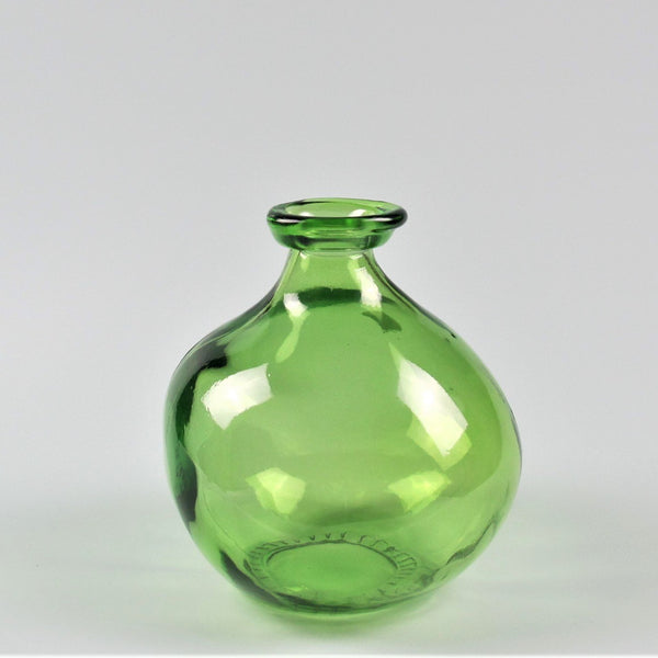 Simplicity Bottle Green Recycled Glass Vase