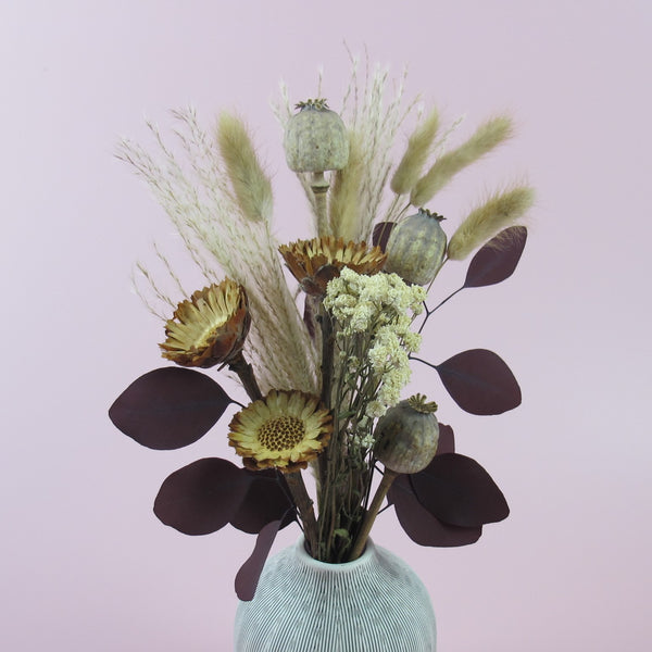 "NEW ""Harmony Taupe"" Dried Floral Arrangement"