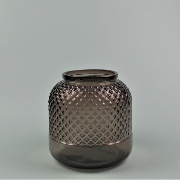 Diamond Smoke Recycled Glass Vase