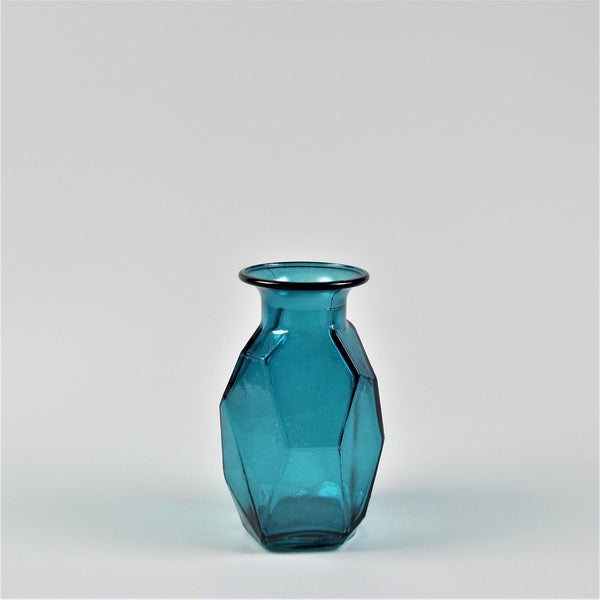 Turquoise Small Recycled Glass Vase