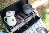 Tani Camping 2 Burner Stove with Grill