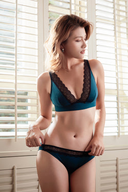 French Resistance Turquoise Wirefree Bra
