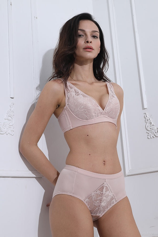 Beatrice Pink Lace Highwaist Panties