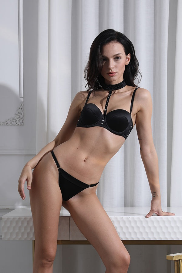 Entrendre Black Push Up padded Bra