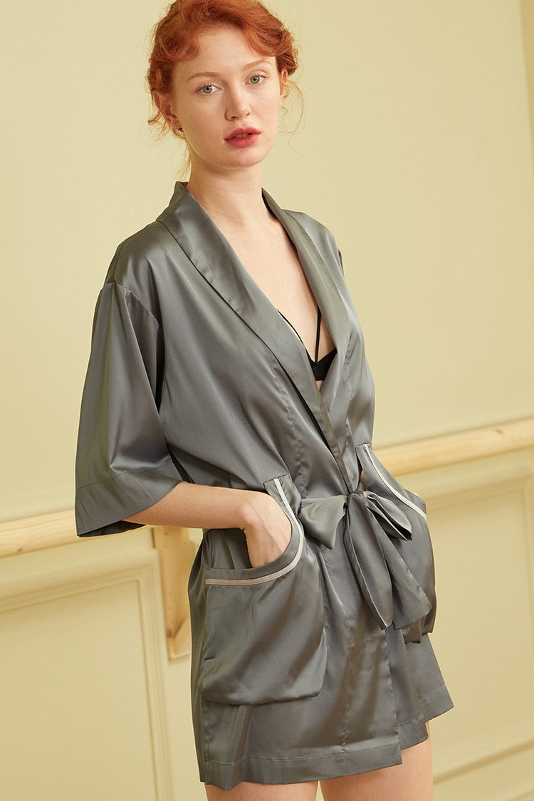 Pamper me Robe Dusty Blue