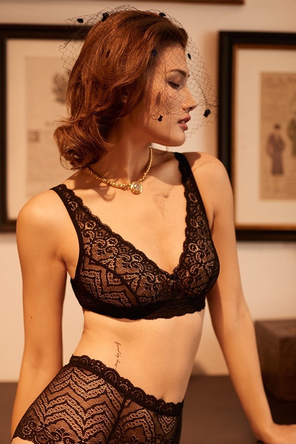 Mata Hari black Lace wirefree Bra