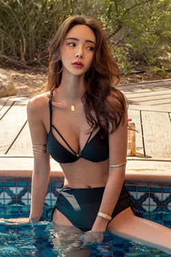 Siming Bikini Top Black