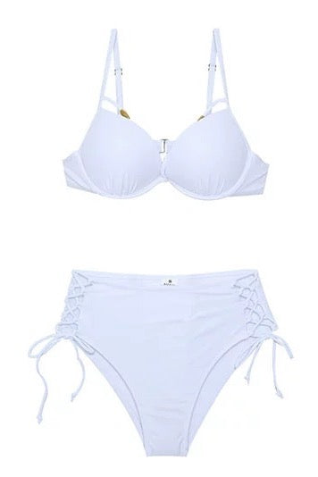 Siming Bikini Top White