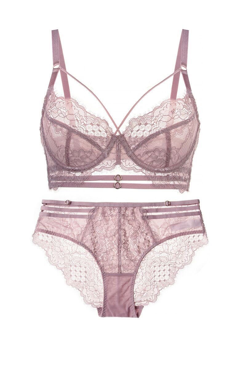 Camilla pink lace full brief
