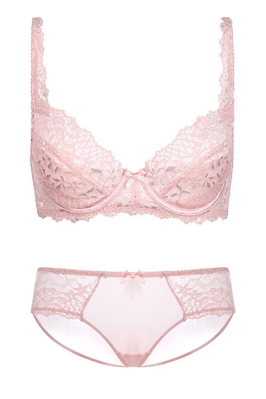 Belle Pink Lace full Brief