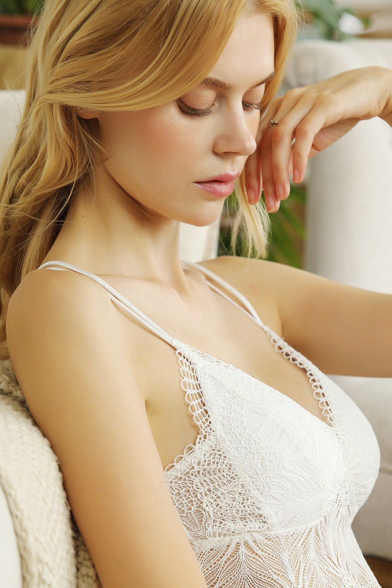 Inside-or-out Lace White Camisole