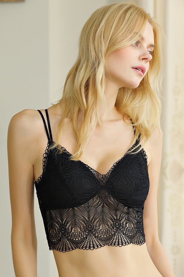 Inside-or-out Lace Black Camisole