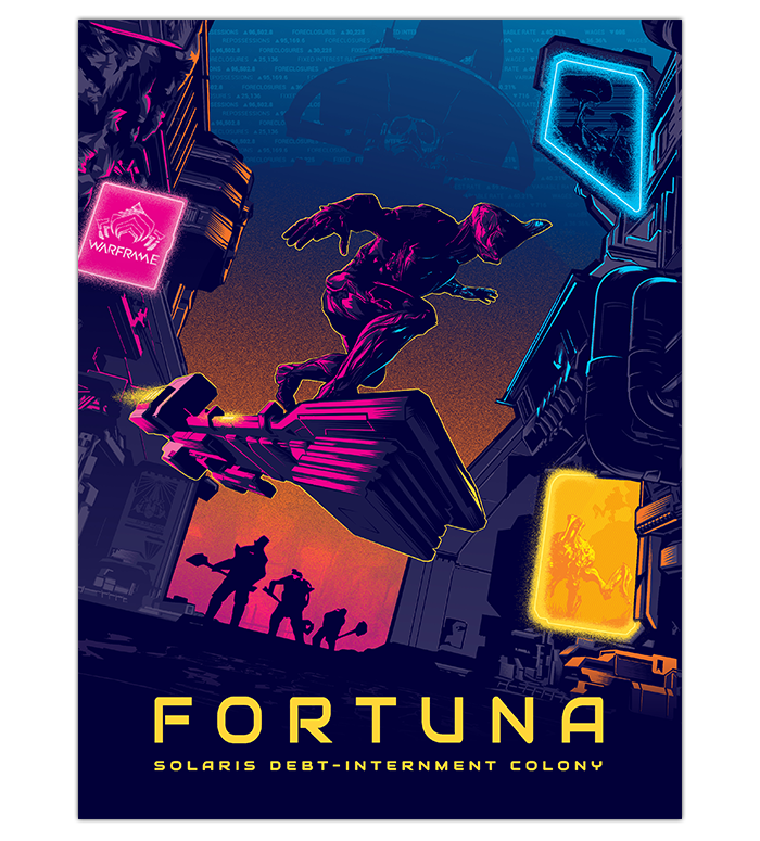 fortuna poster limited time pre order the official warframe store