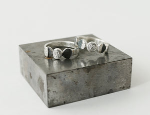 UNDER THIS MOON FAMILY RING / multiple custom moon phases ring in sterling silver