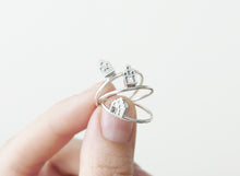 Load image into Gallery viewer, TINY AMSTERDAM / miniature dutch house ring in sterling silver