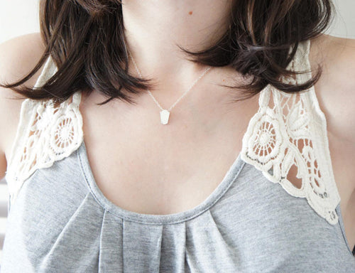 ANTOINETTE / miniature mirror necklace in sterling silver