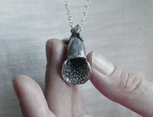 Load image into Gallery viewer, DIGITALIS / foxglove pendant in sterling silver