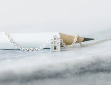 Load image into Gallery viewer, GELUK - LUCK / miniature dutch house necklace in sterling silver