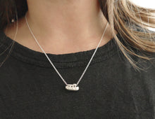 Load image into Gallery viewer, GEZELLIG - COZY / miniature amsterdam boathouse pendant in sterling silver