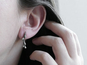 LAVENDER BRANCH / botanical ear climber in sterling silver