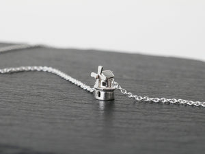STERK - STRONG / miniature dutch windmill necklace in sterling silver