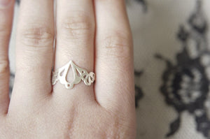 LINGERIE RING 002 / hand-pierced ring in sterling silver