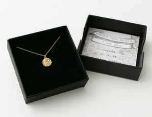UNDER THIS MOON / solid 14K GOLD custom moon phase necklace