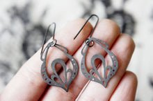 Load image into Gallery viewer, LINGERIE PENDELOQUE EARRINGS / hand-pierced earrings in sterling silver