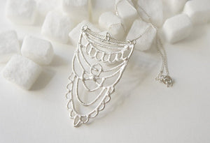SUKKAR / moroccan inspired necklace in sterling silver