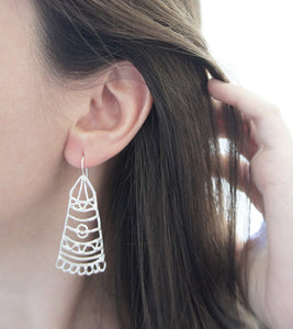BARAKA / moroccan inspired earrings in sterling silver