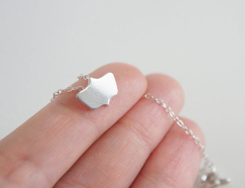 ISABEL / miniature mirror necklace in sterling silver