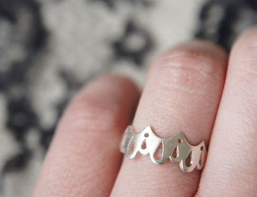 LINGERIE RING 001 / hand-pierced ring in sterling silver