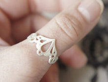 Load image into Gallery viewer, LINGERIE RING 002 / hand-pierced ring in sterling silver