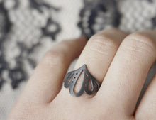 Load image into Gallery viewer, LINGERIE RING 004 / hand-pierced ring in sterling silver