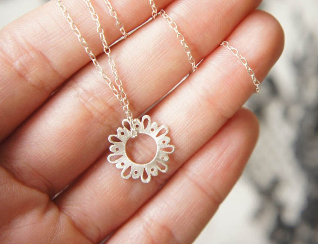 LINGERIE TINY CUTE PENDANT / hand-pierced necklace in sterling silver