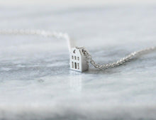 Load image into Gallery viewer, TROTS - PRIDE / miniature dutch house necklace in sterling silver