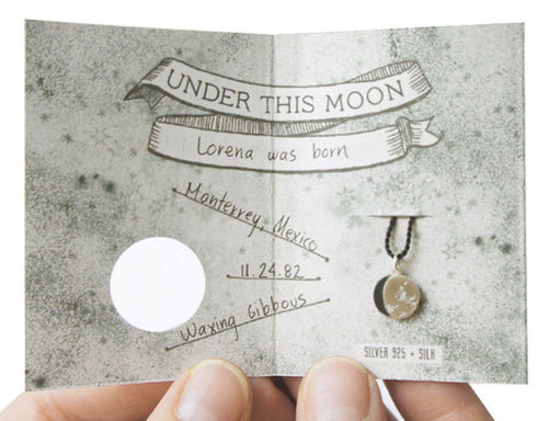 UNDER THIS MOON / custom moon phase bracelet in sterling silver & silk