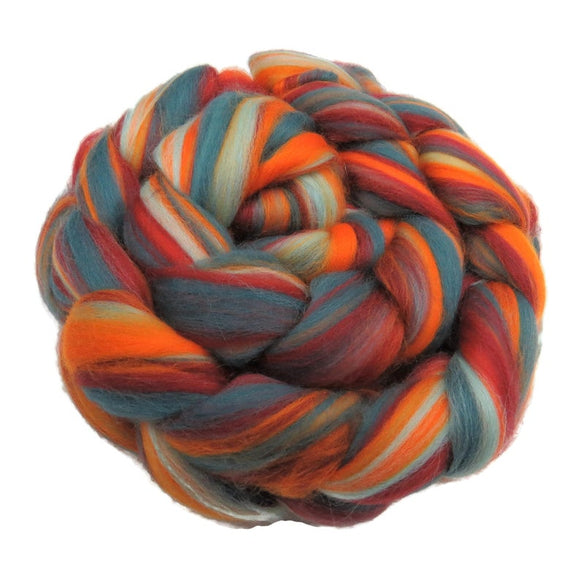 New! Blended  Merino wool roving,  2oz or 4oz, color: Fire and Ice