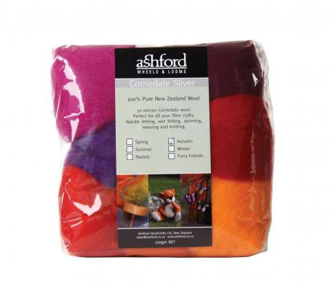 Needle felting wool palette kit, 3.5 oz, Color: Autumn Mix